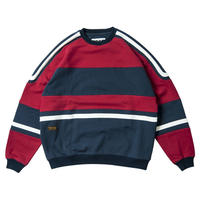 TIGHTBOOTH PRODUCTION STARTER CREW SWEAT RED/NAVY