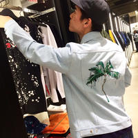 RAISED BY WOLVES FROZEN PALM TRUCKER JACKET