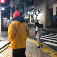 EVISEN SKATEBOARDS HONG KONG COACH JACKET GOLD