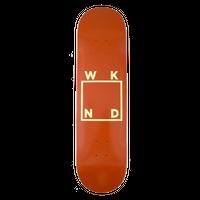 WKND SKATEBOARDS LOGO BOARD- BROWN + YELLOW 7.75/8.25INCH