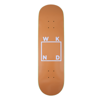 WKND SKATEBOARDS LOGO BOARD- TAN + PURPLE 8.0/8.25INCH