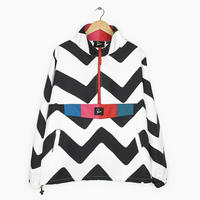 BY PARRA VASE MOUNTAIN STRIPES WINDBREAKER