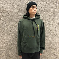 PALM  ANGELS MONOGRAM LOGO HOODY GREEN