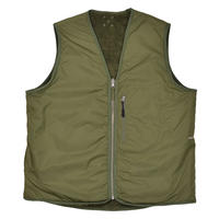 POP TRADING COMPANY HAROID REVERSIBLE VEST HUNTING GREEN