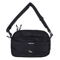 MAGENTA MESSENGER BAG BLACK