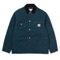 CARHARTT WIP  OG CHORE COAT DUCK BLUE / BLACK AGED CANVAS