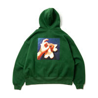 TIGHTBOOTH × KILLER-BONG HAND SIGN HOODIE GREEN