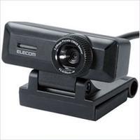 St0008  エレコム マイク内蔵 高精細ガラスレンズ 500万画素WEBカメラ UCAM-C750FBBK 1個