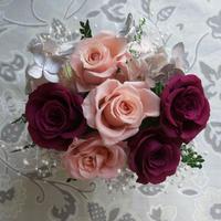 プリザーブドフラワー・ピンクの バラの贈り物