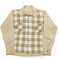40's cottonOpen collarshirt オープンカラーシャツ