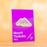 Mount Tsukuba Pins Gold 【筑波山 金のピンバッジ】