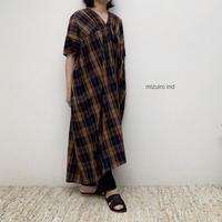 【レディス】mizuiro-ind(ミズイロインド)チェックギャザーワンピース1-258185