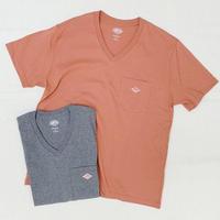 【レディス】DANTON(ダントン)ポケット付Vネック 半袖Tシャツ 無地 JD-9088