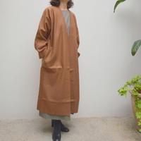 【レディス】SACRA(サクラ)RING MILLED WOOL COAT /ノーカラー 圧縮ウールコート 118560021