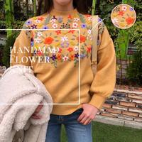 Flower blossom knit