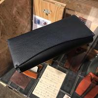 Dew-003 長財布 スリム版 紺×黒