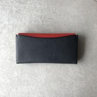 Dew-003 長財布スリム版 紺×赤
