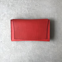 【Dew-002】長財布 赤×赤