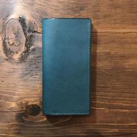 iPhone11ProMax ケース 手帳型 「青色」