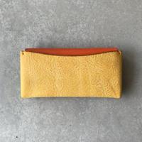 Dew-003 長財布スリム版【アラスカ】黄×オレンジ