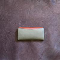 Dew-003 長財布(スリム版)緑