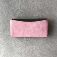 Dew-003 長財布スリム版【アラスカ】ピンク×緑