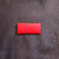 Dew-003長財布(スリム版)赤