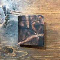 泥染革 Dew-001 二つ折財布