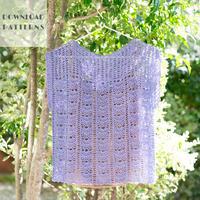 【編み図】かぎ針編み下がりプルオーバー