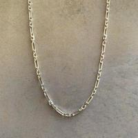 figaro chain choker -silver-