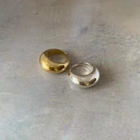 crescent moon ring -gold-