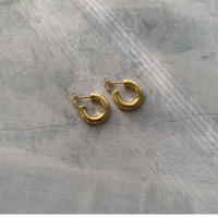 qamar hoops -gold-