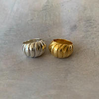 spiral shell ring  -silver-
