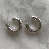 mini hoops -silver-