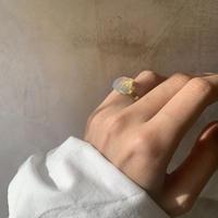 milky quartz ring