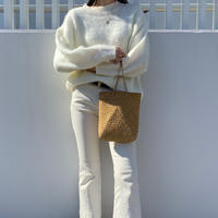 -white- spring knit
