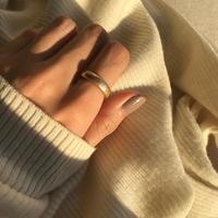 matte open ring -gold-