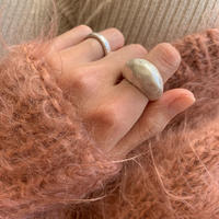 matte hammer finished ring -silver-