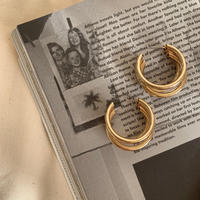 triple ring hoops