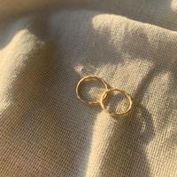 matte wavy ring