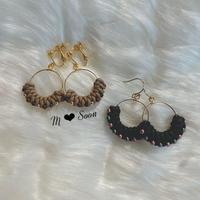 【moon ・ beads】ブラック &キャメル