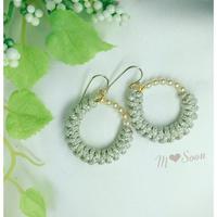 【moon − silver ・ mini】小粒パール* ピアス&イヤリング