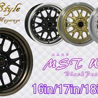 17インチ MST Wheel Black Pearl 4本タイヤセット