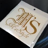 M'sStyleロゴステッカー/ゴールドラメ