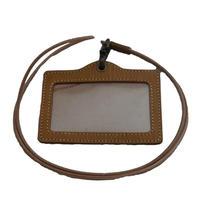 木目調本革IDホルダー/ Wooden Leather ID Holder