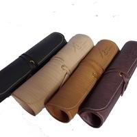 木目調本革ペンケース / Wooden Leather Pen Case