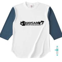 イベント企画3位【A】メイキャス!ーMAYA&YUUKIーオープンエンドベースボールTシャツ