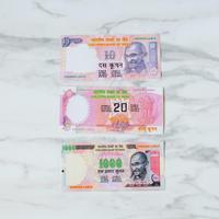 インドのお札風メモ3枚セット