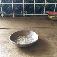 豆皿ー白い花ー