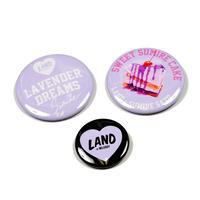 「LAND by MILKBOY ✕ Sumire Sato コラボ缶バッチセット【DREAMY BADGE SET】